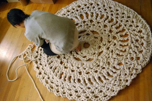 использовать схему вязания