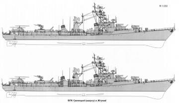 Проект 57А - большой противолодочный корабль HVS4I