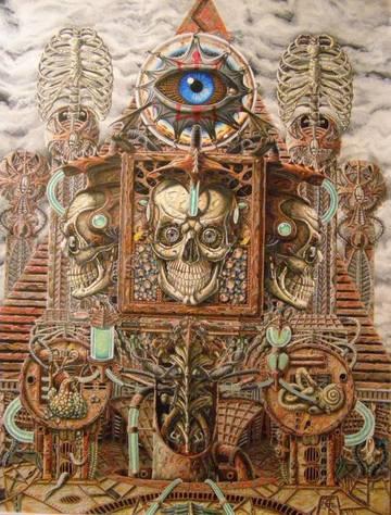 Арт Прозрение. Эмблемы паразитической структуры. Глаз в треугольнике