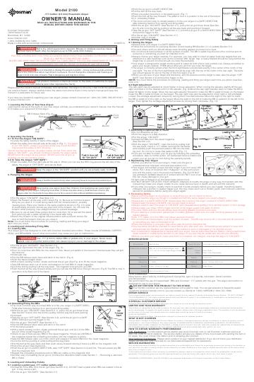 Паспорт и взрыв-схема Crosman 2100B...  Для просмотра щелкните левой кнопкой мыши по документу и в открывшемся окне...