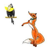 презентация басни ворона и лисица