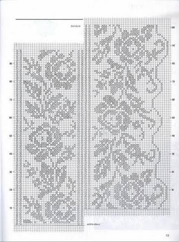 Схемы филейного вязания.
