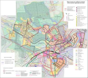 Карта (схема) зон с особыми условиями использования территории поселения.